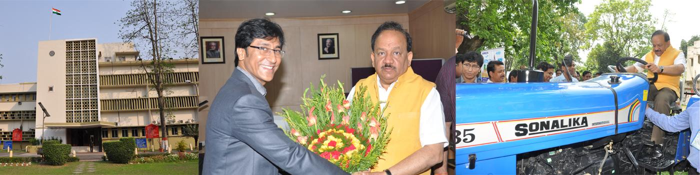 Visit of Hon. Minister of S&T and Vice President, CSIR